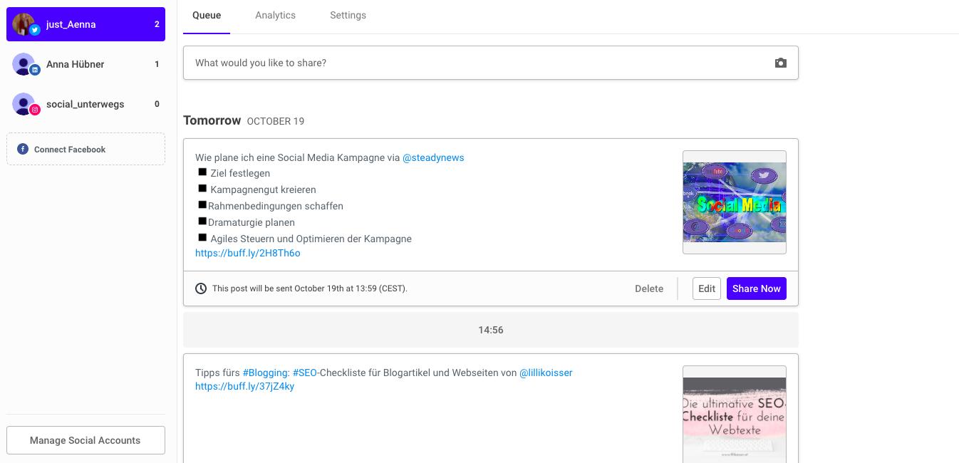 Screenshot-Buffer-Redaktionsplan